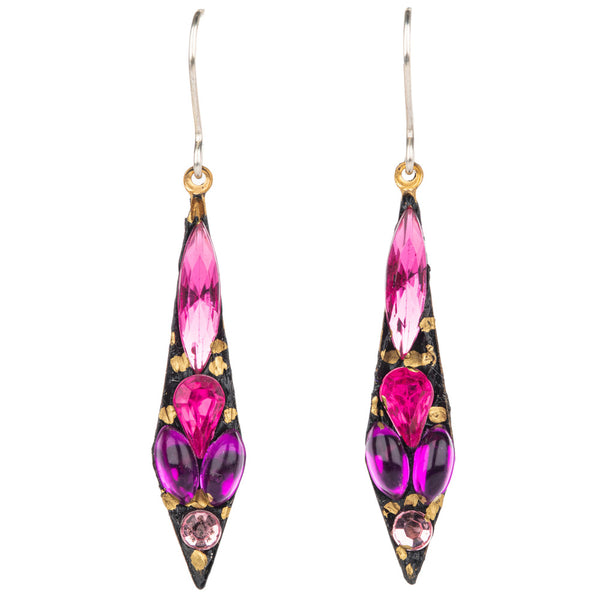 Drop Earrings - Pink Mix