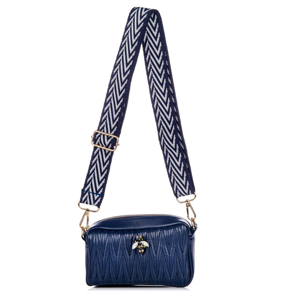 Rivington Mini cross body bag in vegan leather - Navy