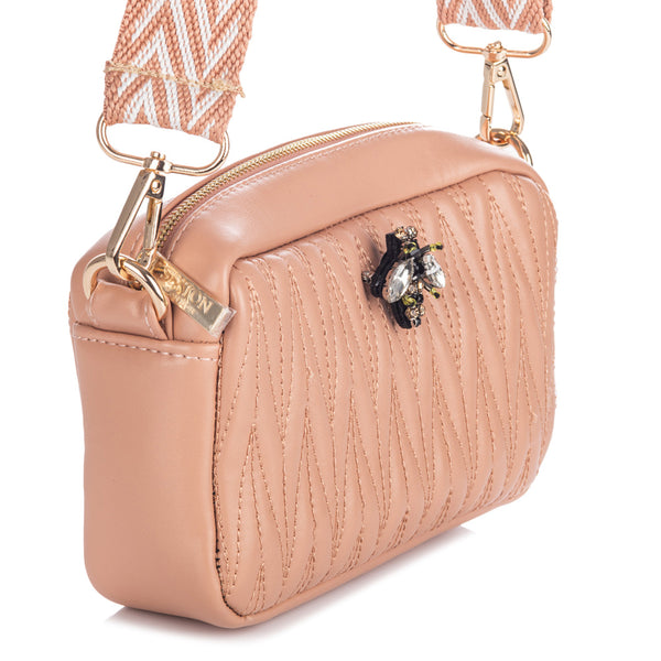 Rivington Mini cross body bag in vegan leather - Pink
