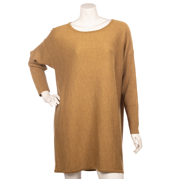 Long Bow Back Jumper - Mustard