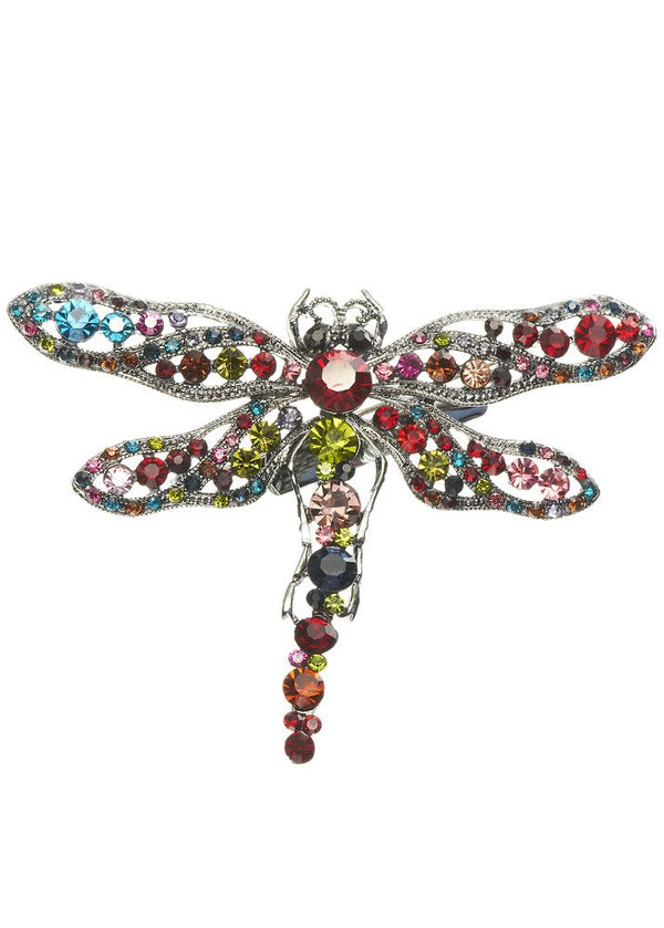 Dragonfly Crystal Hairclip & Brooch