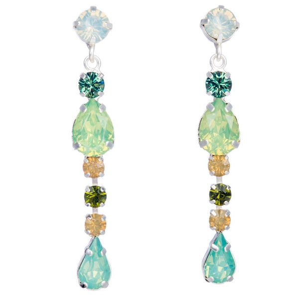 Emma Claw Set Drop Earrings Aqua Blend - HU006