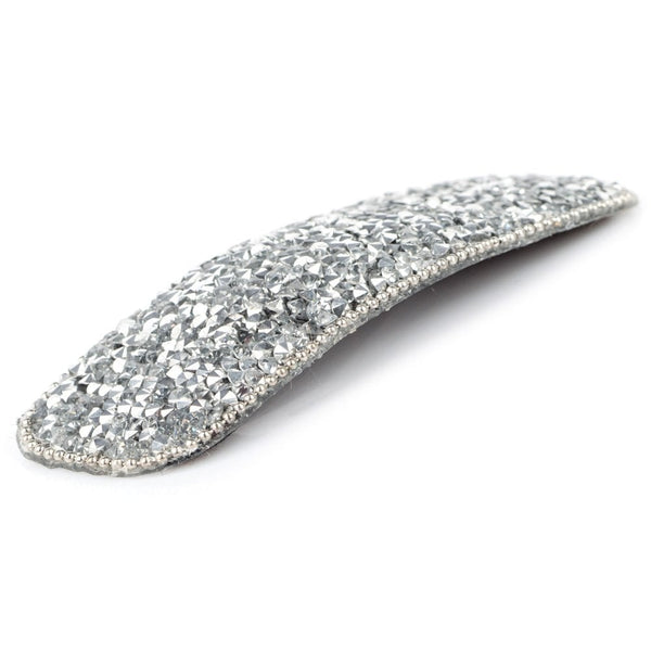 Rectangular Sparkly Hair Clip Silver - AY148