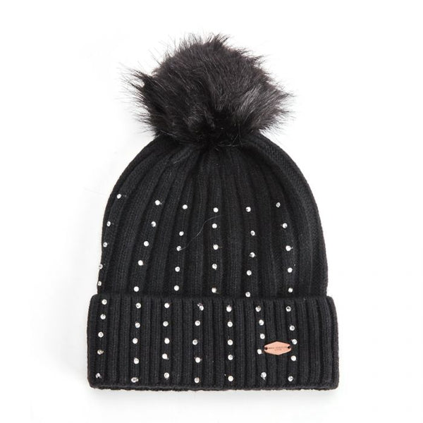 Hestel Bobble Hat Black