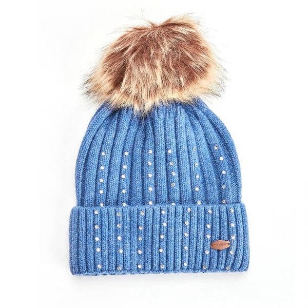 Hestel Bobble Hat Denim
