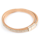 Double Wrap Bracelet - Clear/Matt Gold