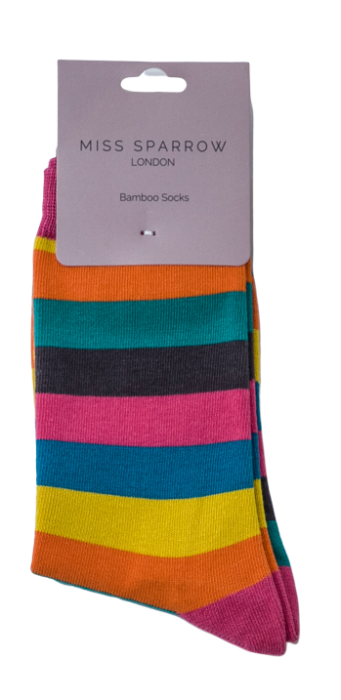 Thick Stripe Socks - Bright