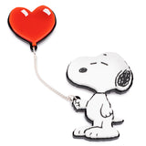SNOOPY HEART BALLOON BROOCH