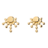 ETRUSCA RISING SUN STUD EARRINGS