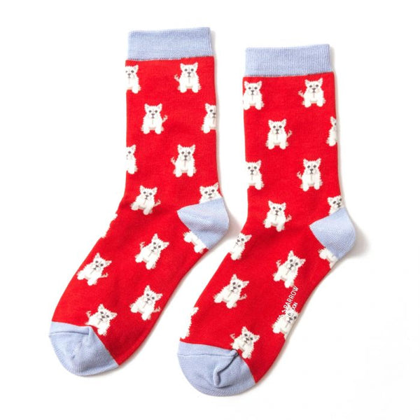 Mini Westie Socks - Red