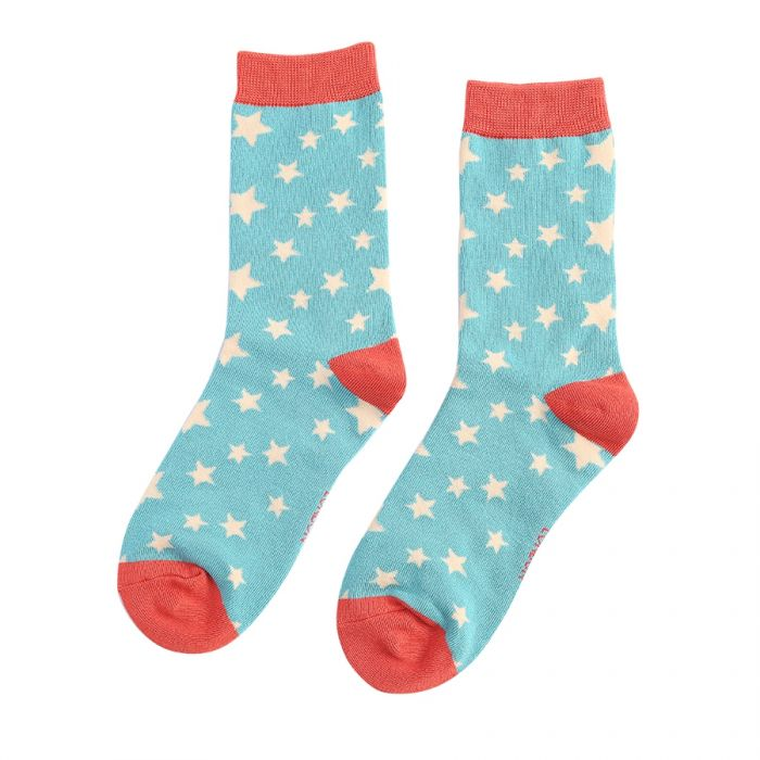 Stars Socks Light Teal
