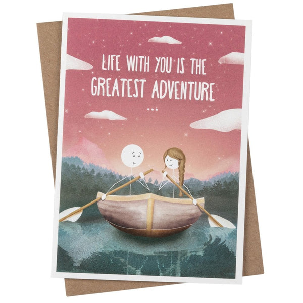 Life With You Is The Greatest Adventure Greetings Card - WW01