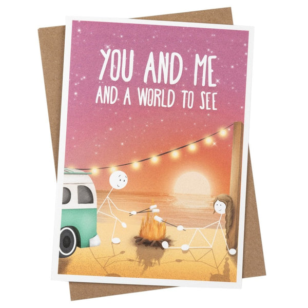 You And Me And A World To See Greetings Card- WW04