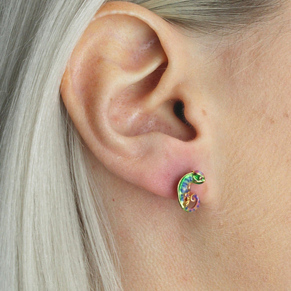 Chameleon Stud Earrings