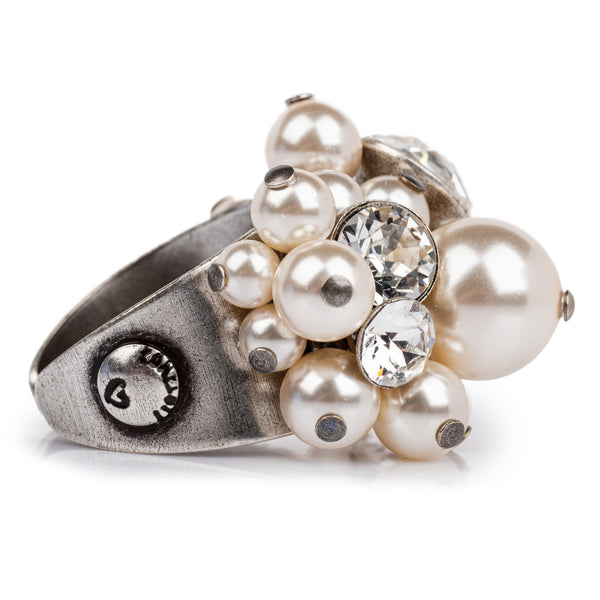 Pearl Shadow Ring - White