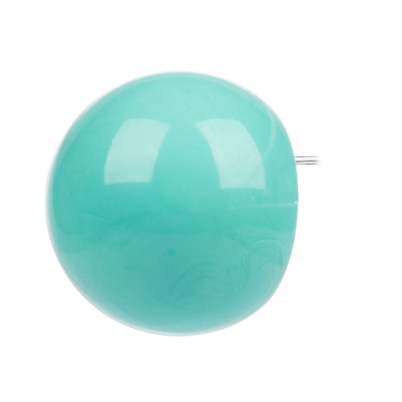 Ballsmania Electric Green Oversized Stud Earrings