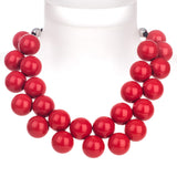 Ballsmania Red Necklace