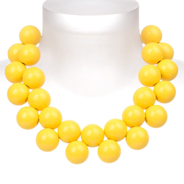 Ballsmania Freesia Yellow Necklace