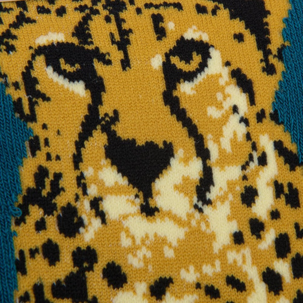 Wild Cheetah Ankle Socks Teal - 19031