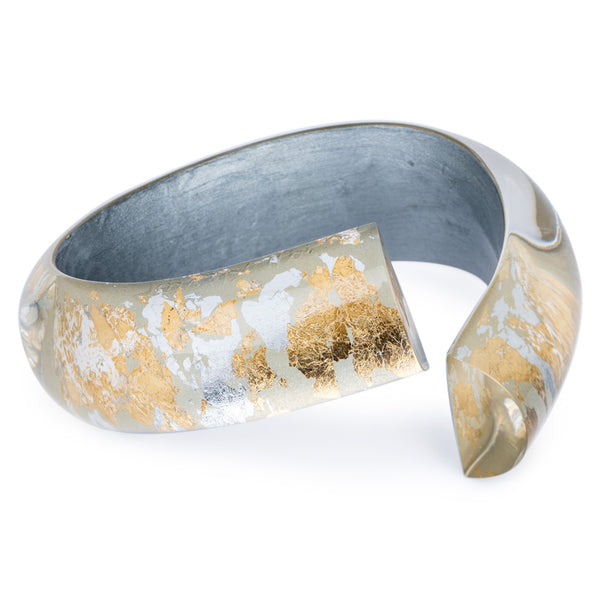 Acrylic Bangle - Gold & Silver