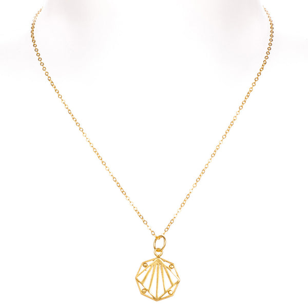 JEAN GOLD PENDANT NECKLACE