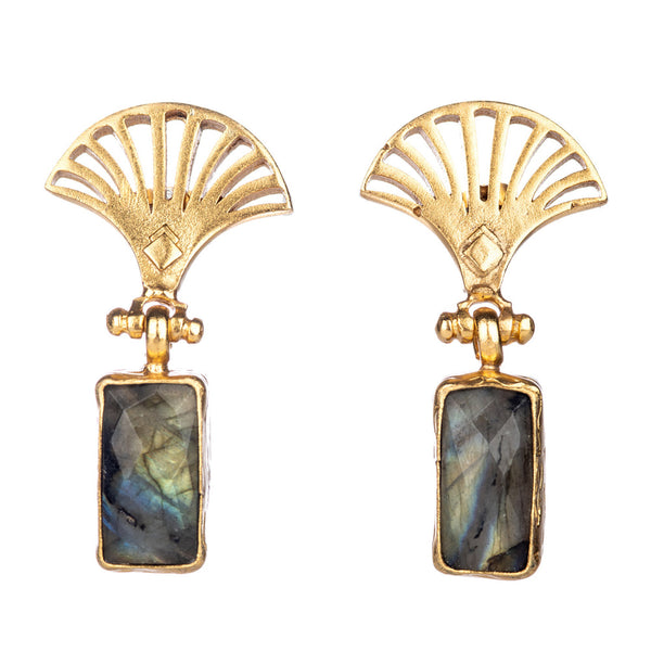 PAUL FAN LABRADORITE DROP EARRINGS