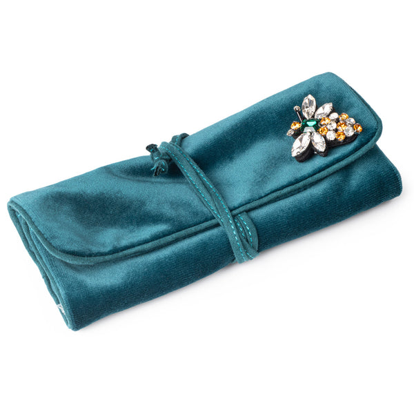 Velvet Jewellery Wrap - Teal