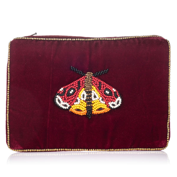 Velvet Moth Purse Small