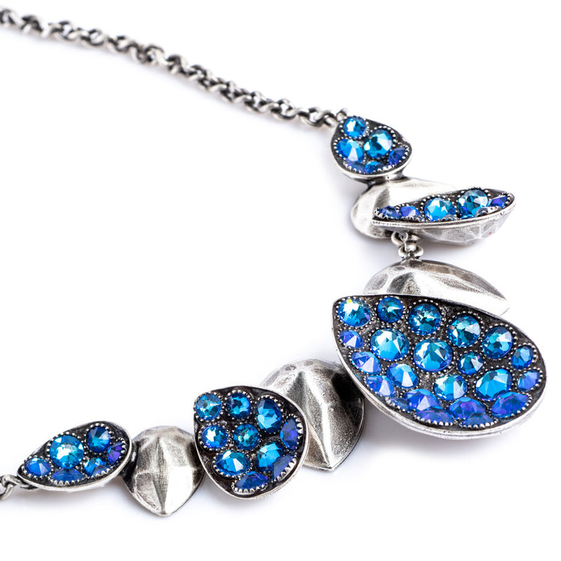 Tears of Joy Blue Lagoon Cluster of Pendants Necklace