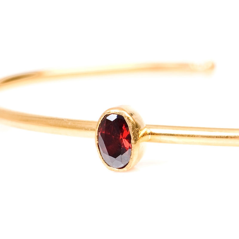 crystal bangle (red)