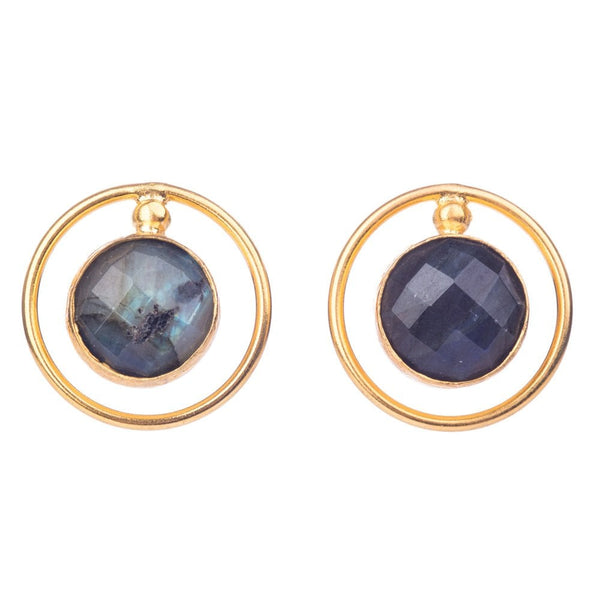 Weimar Labradorite Gemstone Earrings - WEI/E
