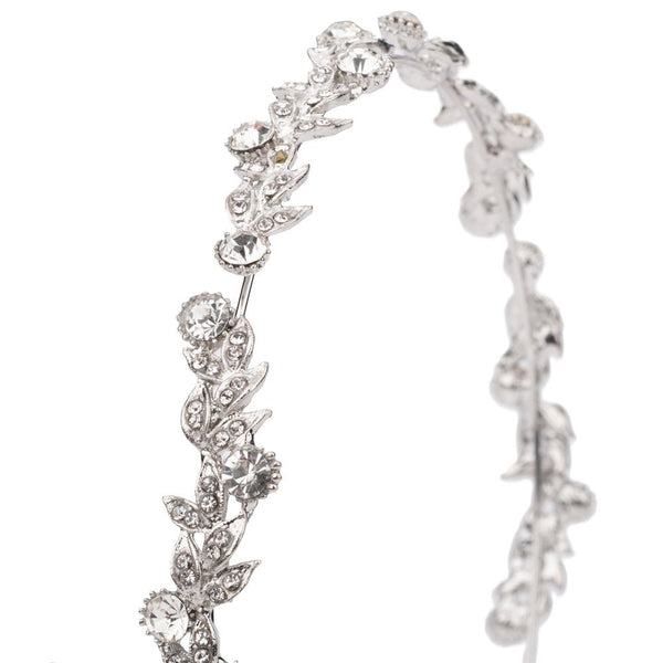 Penelope Crystal Hairband Silver Tone - FB241