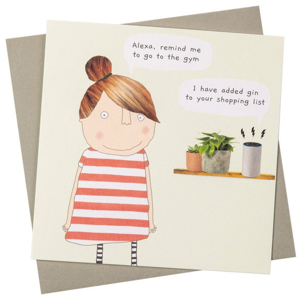 Alexa Gin Greeting Card