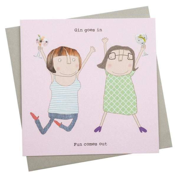 Gin Goes In Greetings Card - GF161