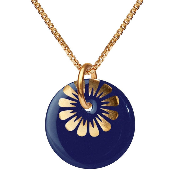 Bloom Necklace Midnight/Gold - BM55-2712G