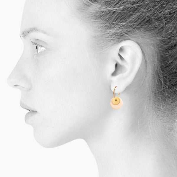Duo Hoop Earrings - DU14-33G