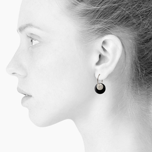 Duo Silver Hoop Earrings