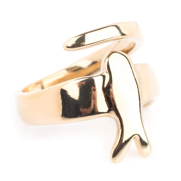 Come Fly With Me Ring Gold Plated - ANI0623ORO0