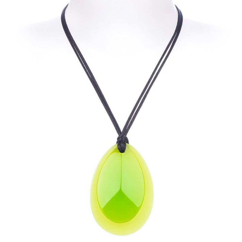 Jelly Two Bead Adjustable Necklace Green