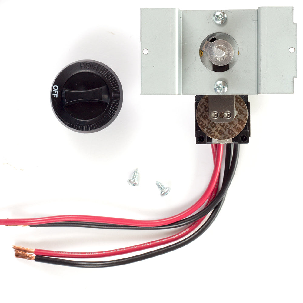 Perfectoe Built-in Thermostat Kit, Double Pole, 22 Amp, Black