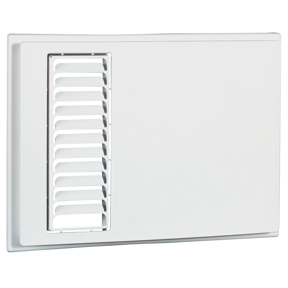 Apex72 decorative cover with louver outlet grill, White