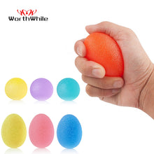 Load image into Gallery viewer, WorthWhile Silica Gel Hand Grip Ball Egg Men Women Gym Fitness Finger Heavy Exerciser Strength Muscle Recovery Gripper Trainer