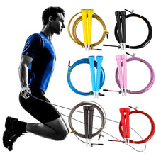 Load image into Gallery viewer, Jump Skipping Ropes Cable Steel Adjustable Fast Speed ABS Handle Jump Ropes Crossfit Training Boxing Sports Exercises