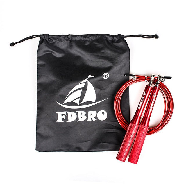 FDBRO Adjustable Jumping Rope Aluminum Speed Crossfit Training Workout Exercise Fitness Equipment MMA Boxing Gym Skipping Rope