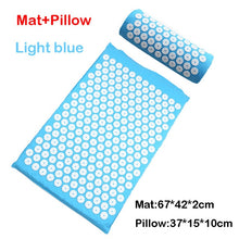 Load image into Gallery viewer, Relieve Stress Pain Yoga Massager Mat Natural Relief Stress Tension Body Massage Pillow Cushion Acupressure Mat