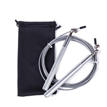 Load image into Gallery viewer, Free pouch 3 Meters METAL BEARING and Handle!! skipping rope / Speed Cable Jump Rope Crossfit MMA Box home gym / NPFL