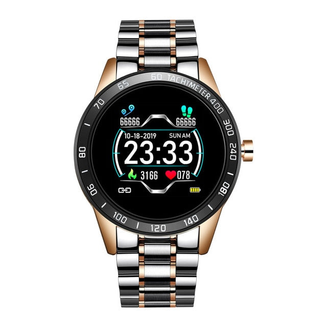 LIGE 2020 New Smart Watch Men LED Screen Heart Rate Monitor Blood Pressure Fitness tracker Sport Watch waterproof Smartwatch+Box