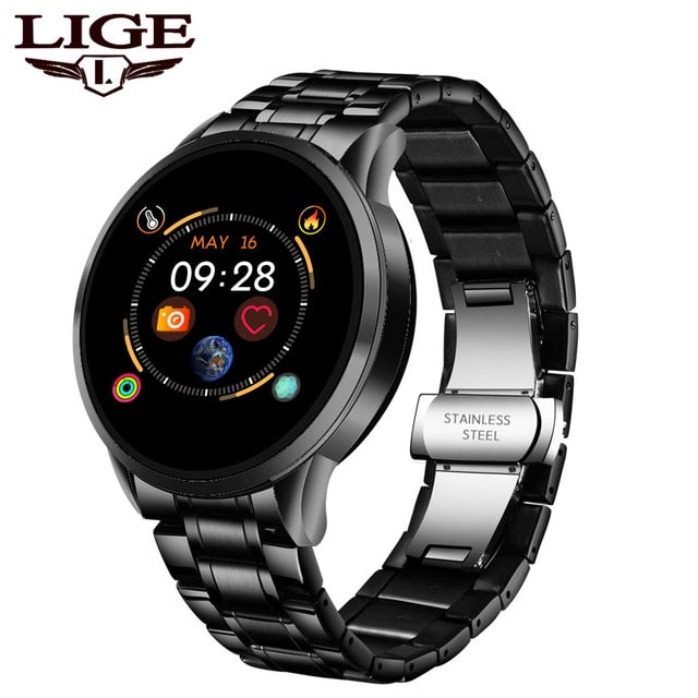 LIGE 2020 New Smart Watch Men Women Sports Watch LED screen Waterproof Fitness Tracker for Android ios Pedometer SmartWatch +Box