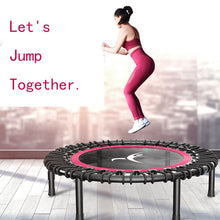 "Load image into Gallery viewer, 40"" Portable Round Mute Adult Trampoline Household Indoor Fitness Dedicated Elastic Rope Trampoline For Kids Fitness Equipment"