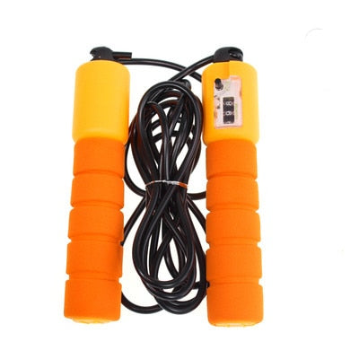 Jump Ropes with Counter Foam Handles Sports Fitness Adjustable  Skipping Wire for Kids Men Women Weight Loss Training Exercise